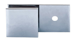 Beslag væg/glas til fast væg 180 grader