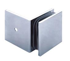 Beslag væg/glas til fast væg 90 grader