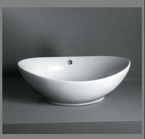 Elegant hvid design porcelænshåndvask til montering på bord